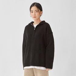 half zipup sailor wool knit