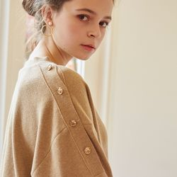 GOLD BUTTON CARDIGAN(BEIGE)