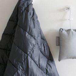 dark gray goose blanket