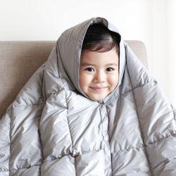 light gray goose blanket