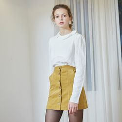 CORDUROY MINI SKIRT(MUSTARD)