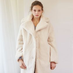 TEDDY BEAR BOUCLE COAT(IVORY)