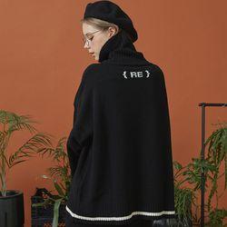 RE signature lambs wool knit (black)