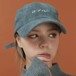 RC corduroy cap (deep gray)