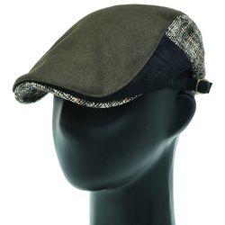 [더그레이]EMH56.체크믹스 울혼방 헌팅캡 남성 모자