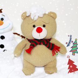 [~12/25까지] 19곰테드 크리스마스 새빨간 루돌프코 인형 30CM