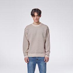 Daily stripe knit (Beige)