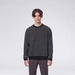 Daily stripe knit (Black)