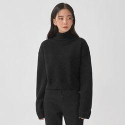 mavel half neck crop knit
