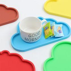 실리콘 컵받침 구름모양
