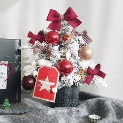 오리지널레드 크리스마스 미니트리 45cm + 와이어앵두전구30구