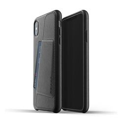 Full Leather Wallet Case for iPhone Xs Max - Black