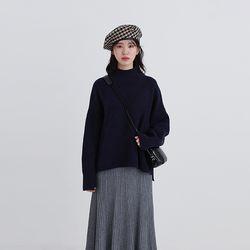 okey ground half neck knit (8colors)