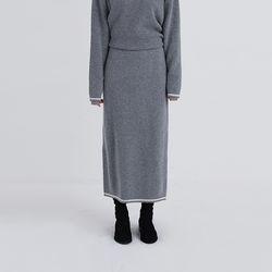 mosaic knit skirt (3colors)