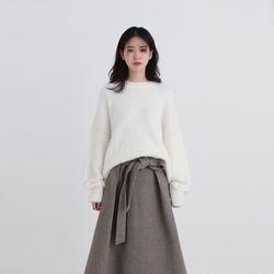 blanch fur knit (5colors)