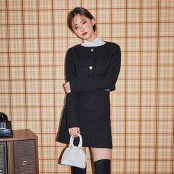 adorable mini tweed skirt (s m)