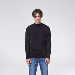 Modern half neck knit (Black)