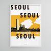 유니크 인테리어 디자인 포스터 M 서울 서울 서울 A3(중형)