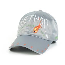 METHOD SATIN BASEBALL CAP GREY
