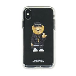 PHONE CASE COMPTON BEAR CLEAR iPHONE Xs MAX  Xr