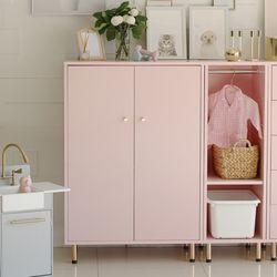 킨포크 옷장 핑크