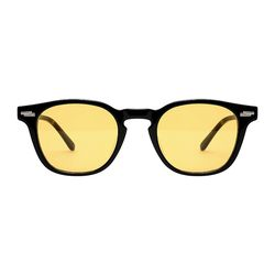 Ginsberg - 05 Black & Mahogany(Yellow Tint)