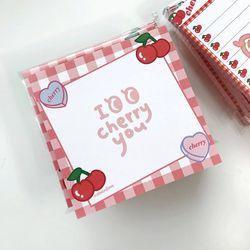 메모패드 - i cherry you