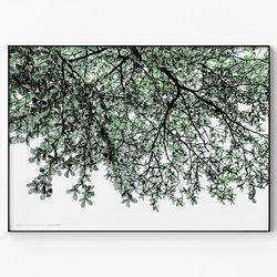 메탈 풍경 자연 인테리어 식물 액자 나무 그늘 B [대형]