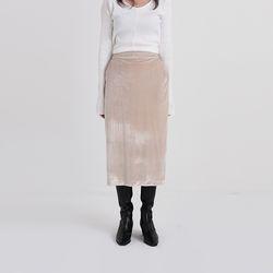 appear velvet slit skirt (2colors)