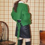 back two strap crop knit