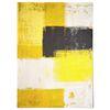 중형 패브릭 포스터 F242 추상화 그림 Yellow and Grey