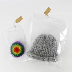 손잡이 집업 비닐 10장묶음 (초간편 선물포장 쇼핑백)