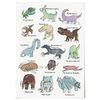 중형 패브릭 포스터 F247 동물 그림 아이방 액자 공룡 친구들