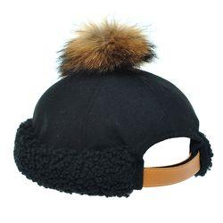 [플릭앤플록]EHH05.라쿤 방울 양털밴드 와치캡 숏비니
