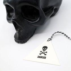 DANGER 댄저 레터프레스 메시지택 삼각형
