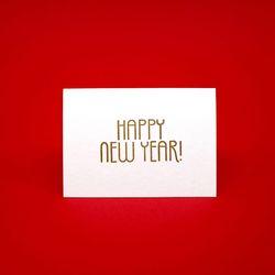 HAPPY NEW YEAR 해피뉴이어 레터프레스 신년 미니카드