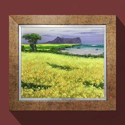 제주유채꽃 꽃그림 풍수인테리어액자 풍수에좋은그림