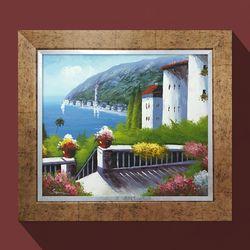 지중해아침 유화그림 그림선물 개업선물 화가그림