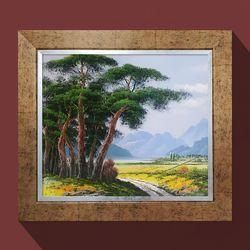 소나무전원풍경 풍수인테리어액자 복을부르는그림