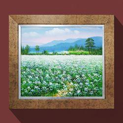 메밀꽃풍경 유화그림 풍수인테리어 풍수에좋은그림