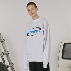 Circle racer logo sweatshirt -light gray