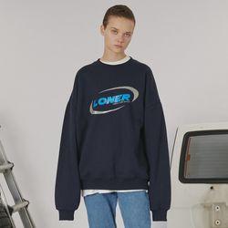 Circle racer logo sweatshirt -navy
