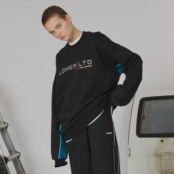 Sleeve point sweatshirt -black