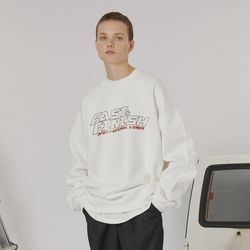 Fast and finish sweatshirt -white