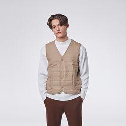 Basic padding vest (Beige)