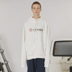 Box logo hoodie -white