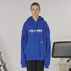 Stitch point hoodie -blue