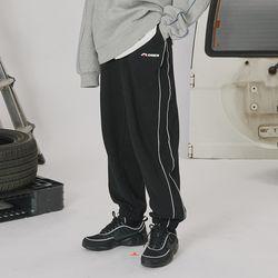Side line track pants -black