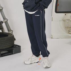 Side line track pants -navy