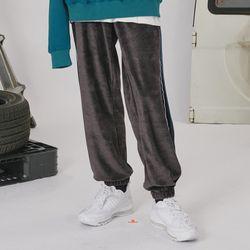 Velvet track pants -dark gray